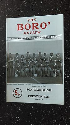 Scarborough V Preston North End 1974-75