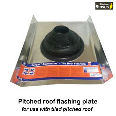 Seldeck Pitched Roof Flashing Plate Suitable for tiled roof 160-210mm twin flue