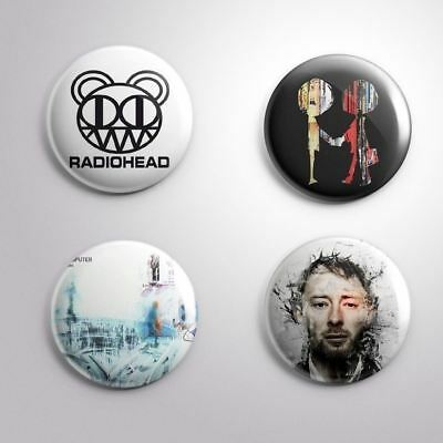 4 RADIOHEAD - Pinbacks Badge Button Pin 25mm 1''
