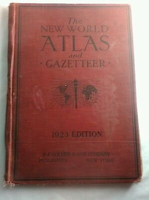The New World Atlas And Gazetter 1923 Edition   Reduced 60 %