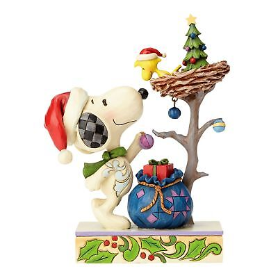 "THE PEANUTS Christmas Skulptur ""SNOOPY & WOODSTOCK"" Enesco Jim Shore N°4057677"