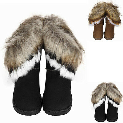 Fashion Winter Women Boots Flat Ankle Fur Lined Lady Warm Snow Shoes Boots Sales