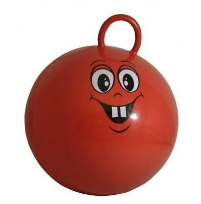 Red Space Hopper Ball With Funny Face - Kids Childrens Garden Toy + Free Pump