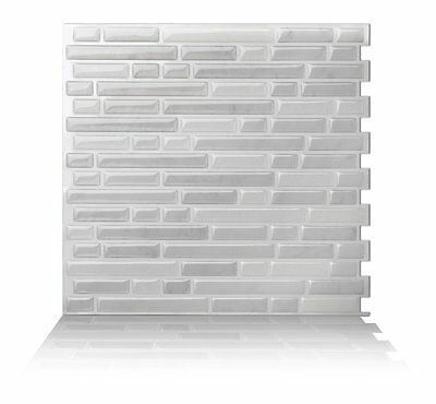 Tic Tac Tiles® - Premium 3D Peel & Stick Wall Tile in Como White (10 sheets)