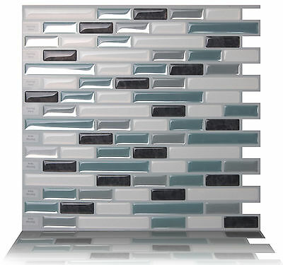 Tic Tac Tiles® - Premium 3D Peel & Stick Wall Tile in Como Marrone (10 sheets)