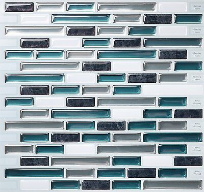 Tic Tac Tiles® -  Premium 3D Peel & Stick Wall Tile in Como Bay (10 sheets)