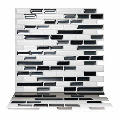 Tic Tac Tiles® -  Premium 3D Peel & Stick Wall Tile in Como Gray (10 sheets)