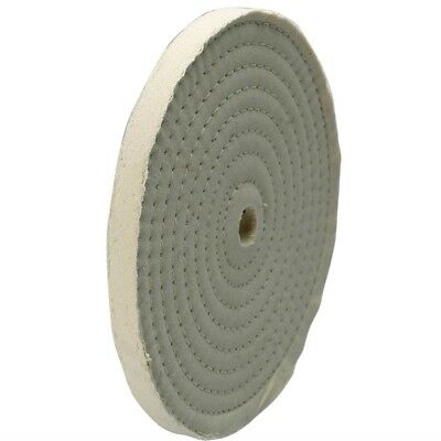 """10"""" Dia Spiral-Sewn Buffing Wheel, fits 3/4""""-7/8"""" arbor, #8455-36"""