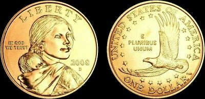 "2008 D Sacagawea Dollar US Mint Coin in ""Brilliant Uncirculated"" Condition"