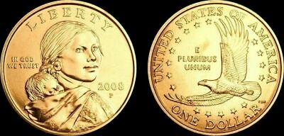"2008 P Sacagawea Dollar US Mint Coin in ""Brilliant Uncirculated"" Condition"