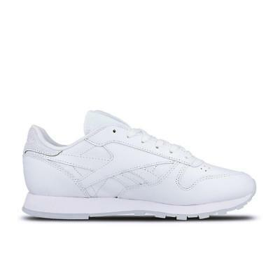 WOMENS REEBOK CL LTHR MET DIAMOND Pink Leather Trainers