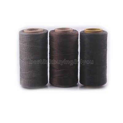 250M 150D 1MM Waxed Wax Thread Cord Sewing Craft for DIY Leather Stitching IC