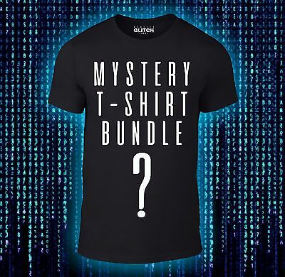 Mystery T-Shirts Bundle - Movie TV Gaming Funny 3 or 5 Tee Pack