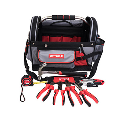 Armeg Tools Kit - 8 Piece - With Hand Tool Tote