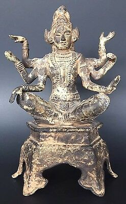Antique 14th-15thC SHIVA Ming Dynasty Chinese Cast Iron Sculpture Figurine