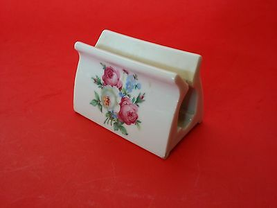 RARE Vintage HAUSMANN WEST GERMANY  BUSINESS CARD HOLDER FLOWERS TOOTHPASTE