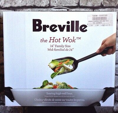 Breville® The Hot Wok Model BEW600XL Asian Chinese Food Stainless Steel Cook NEW