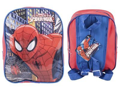 Marvel Spiderman Kid Children Boy Nursery Mini School Trip Travel Backpack Bag