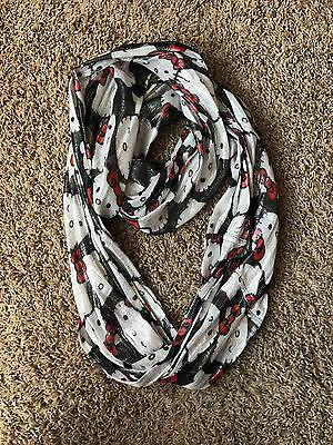 Hello Kitty Black white Red Shimmer Infinity Scarf