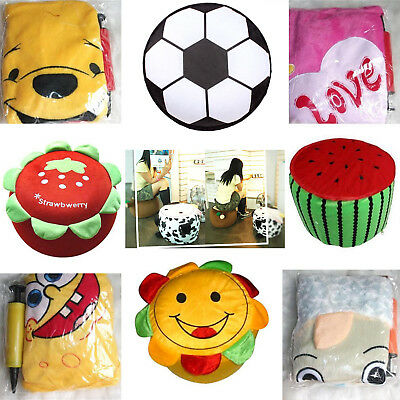 Inflatable Gas Stool Baby Children Kids Toy Gift Home Office Travel Foot Rest