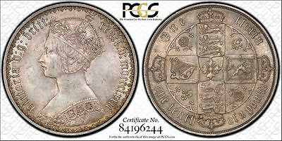 1872 Gothic Florin PCGS MS62 silver Great Britain die # 144