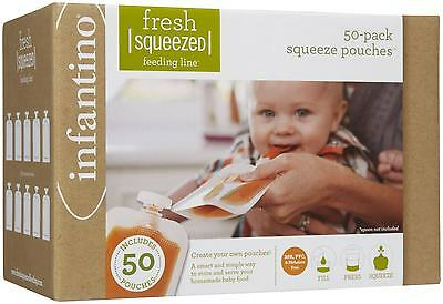 Infantino Fresh Squeezed Pouches - 50 pack, 5 oz pouches