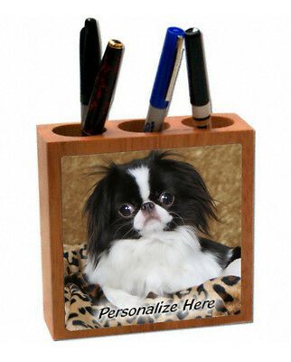 Japanese chin  black & white color  ( 3 )   Personalized  Pencil and Pen Holder
