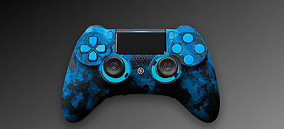 Scuf Impact Gaming PS4 Controller Pad Limited Edition Camoblue