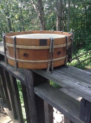 Vintage WALBERG & AUGE 30's-40's  MAPLE snare drum , Needs New Head