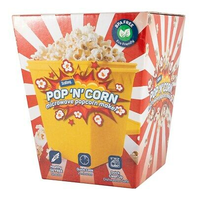 New Scullery Pop N Corn Microwave Popcorn Maker Red