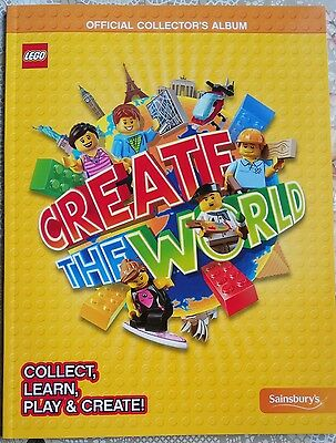 LEGO CREATE THE WORLD Official Collectors Album Book for Cards - Sainsburys Book
