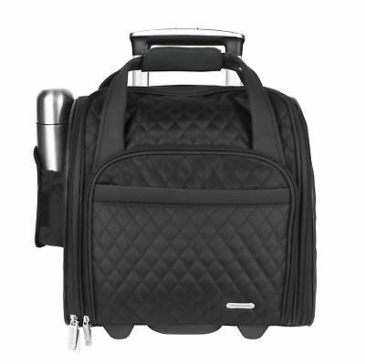 Travelon Wheeled Underseat Carry-On with Back-Up Bag Black One Size OSFA