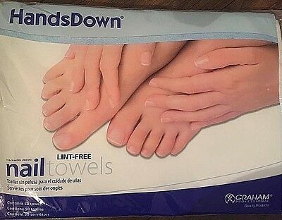 Graham Hands Down Lint Free Nail Tail Towels x 50 - 11.9x16 inches Brand New