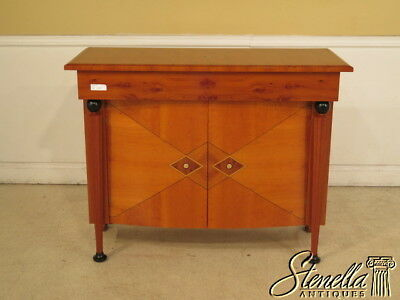 28196E:  Italian Yew Wood 2 Door Commode w. Mother Of Pearl Inlay
