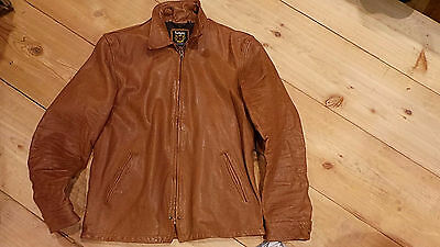 Schott NYC #3151041 VINTAGED Skins leather Racer jacket STAR& New w tags RARE