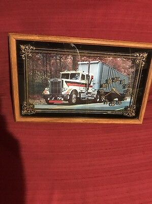 Semi Truck Clock Vintage Freightliner Fast Shipping Works Great