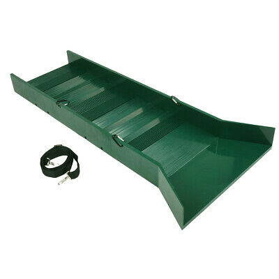 "30"" Lightweight Green Sluice Box with Shoulder Strap and 3 Carabiners"