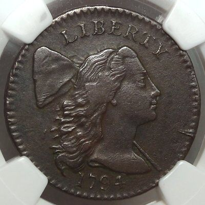 1794 Large Cent, Head of 1794, Flowing Hair, Sharp Extremely Fine+, NGC Cert