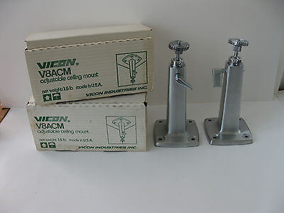 Lot of 2 Vicon V8ACM Ceiling Mount Adjustable USA MADE vintage Fixtures