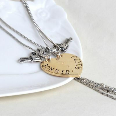 Pair Love Heart Women Men Couple Necklace Lovers Heart Pendant Stainless Steel