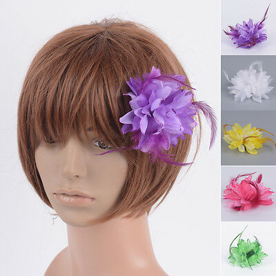 Handmade DIY Fascinator Feather Clip Crafting Flowers Millinery Dress Accessory