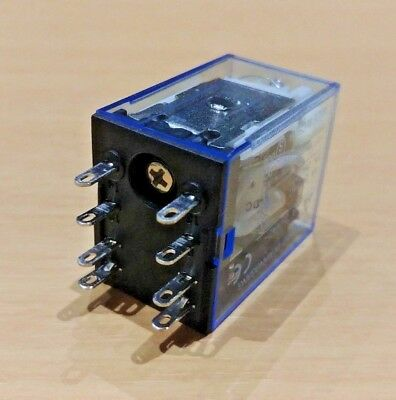 8 Pin Double Pole Double Throw RELAY - 250V AC 5 Amp - 12V DC COIL - (DPDT)