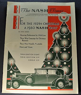 1930 Nash Times Brochure 400 Twin Ignition Eight Single Six Excellent Original