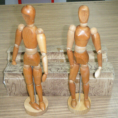 "Vintage 1970's Pair Boxed Rowney Lay Figure 12"" Artist Wooden Mannequins"