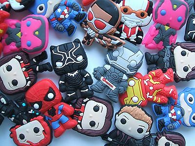 SHOE CHARMS (B11) - inspired by CUTE AVENGERS - SPIDERMAN, IRONMAN, CPT AMERICA