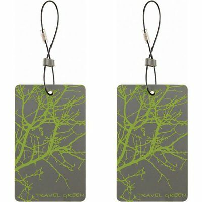 Travel Green 2-Pack Luggage Tags, Green