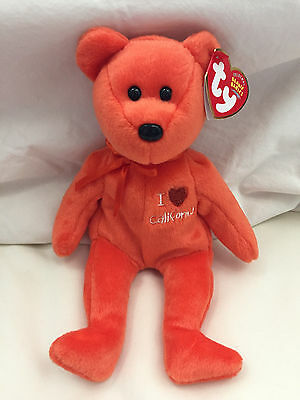 Brand new! I love / heart Califonia Exclusive TY Beanie Babies RETIRED! w/ tags