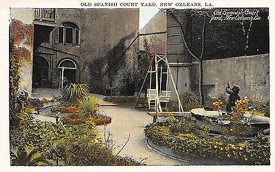 Postcard LA Old Spanish Courtyard New Orleans Vintage Louisiana PC