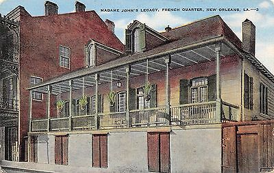 Postcard LA New Orleans Madame Johns Legacy French Quarter Louisiana PC