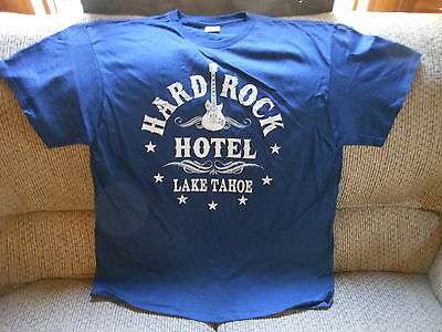 "CASINO T - SHIRT  ""HARD ROCK HOTEL LAKE TAHOE"" LAKE TAHOE, NEVADA   XL   new"